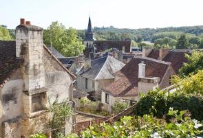 Vue sur les toits du Grand Pressigny